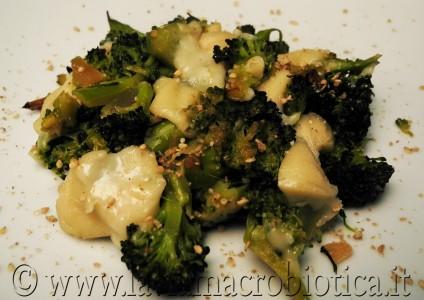 Broccoli in padella con mozzarisella