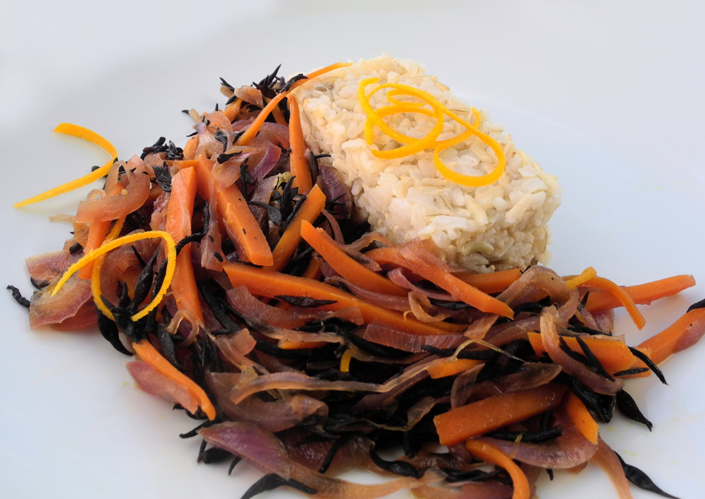 Hijiki all'arancia con basmati integrale