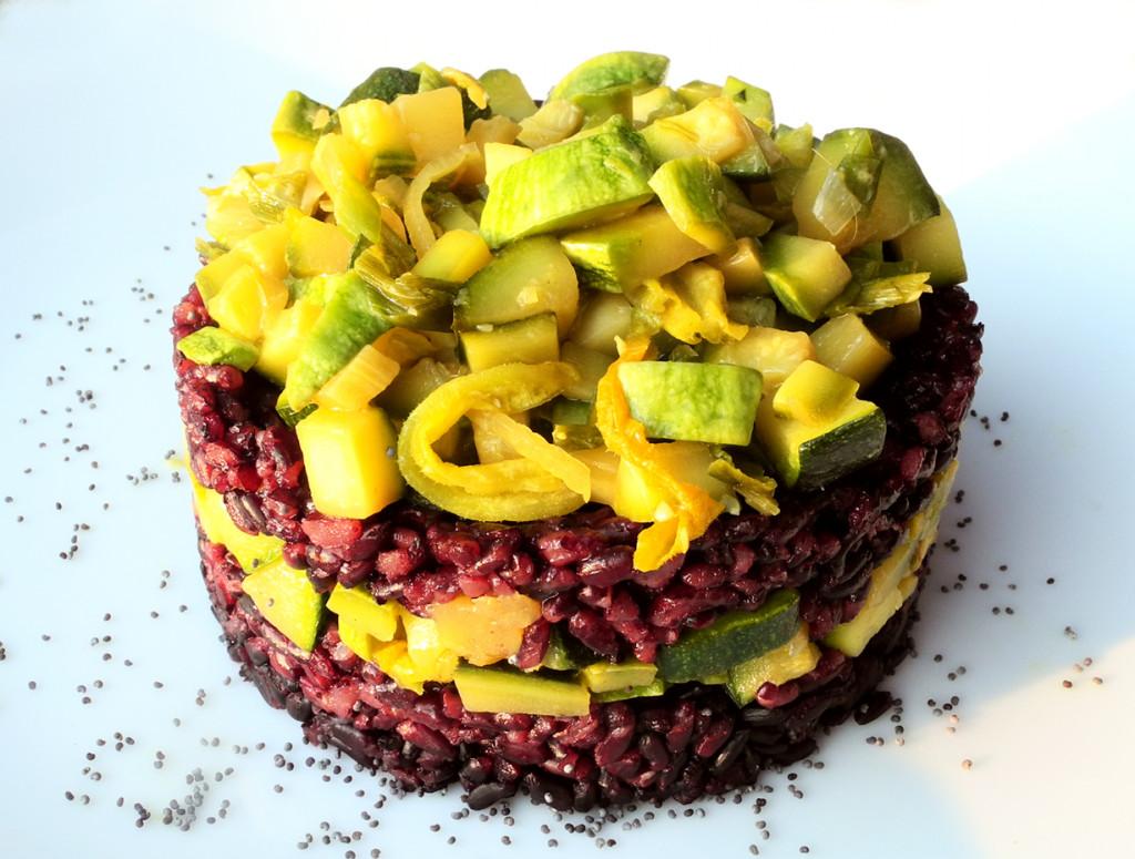 Popolare Riso venere con zucchine allo zenzero e limone | La Via Macrobiotica DM09