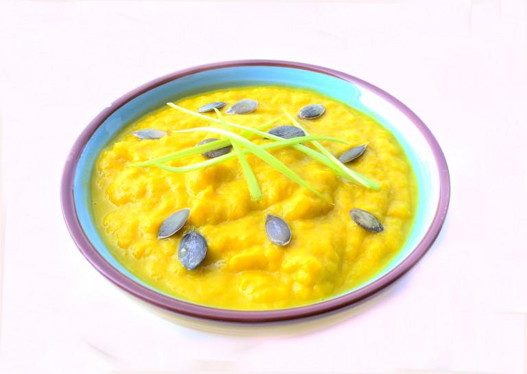 Crema di porri, carote e zafferano