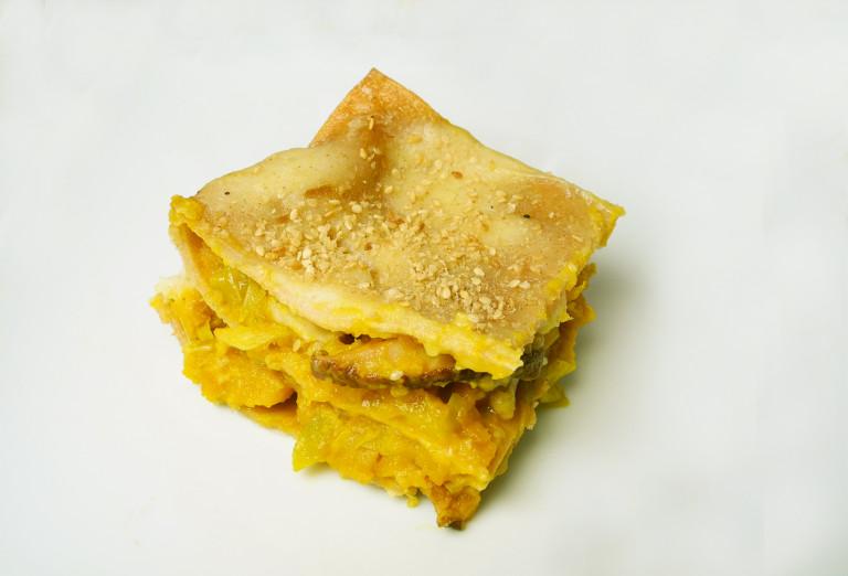 Lasagne zucca e shitake