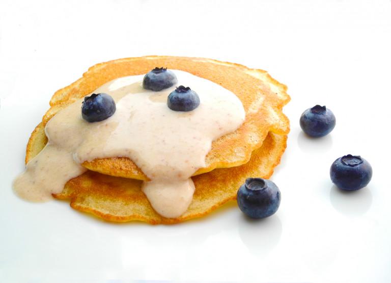 Pancake con salsa datteri