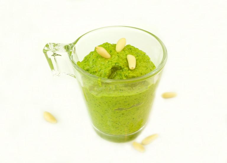 Pesto di basilico e spinaci (1)